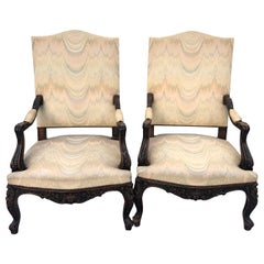 Gainsborough Armchairs, Walnut Upholstered  circa 1920 (Pair)