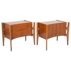 Pair of Walter Hinn Side Tables in Walnut