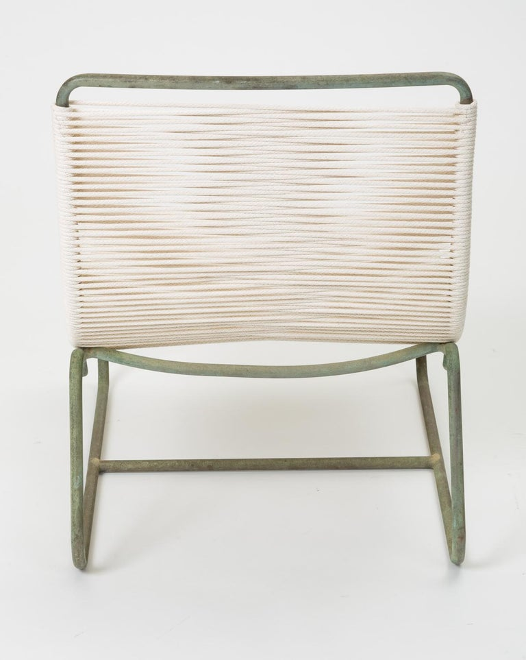 Bronze Pair of Walter Lamb Sleigh Chairs For Sale