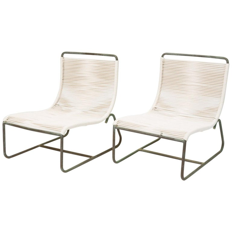 Pair Of Walter Lamb Sleigh Chairs For