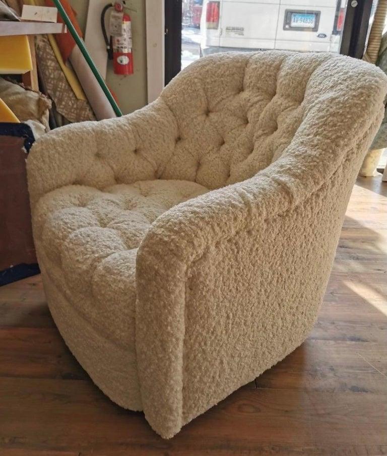 Fabric Pair of Brickel Associates Club Chairs Mid-Century Modern For Sale
