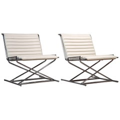 Pair of Ward Bennett Sled Chairs