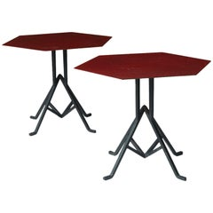 Pair of Warren McArthur and Frank Lloyd Wright Iron Side Tables