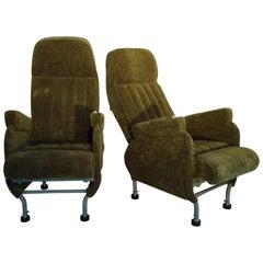 Pair of Warren McArthur Corporation Aircraft Passenger Seats Adjustable c. 1946