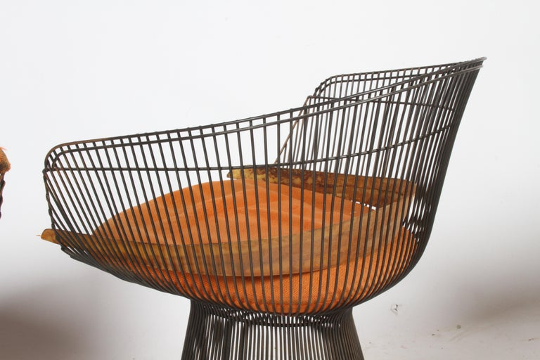 Pair of Warren Platner Bronze Dining Chair for Knoll, Need Restoration For Sale 6