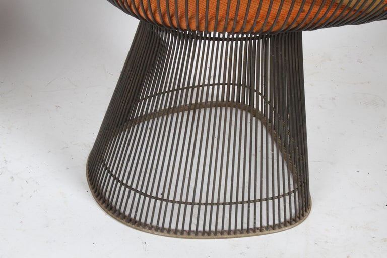 Pair of Warren Platner Bronze Dining Chair for Knoll, Need Restoration For Sale 7
