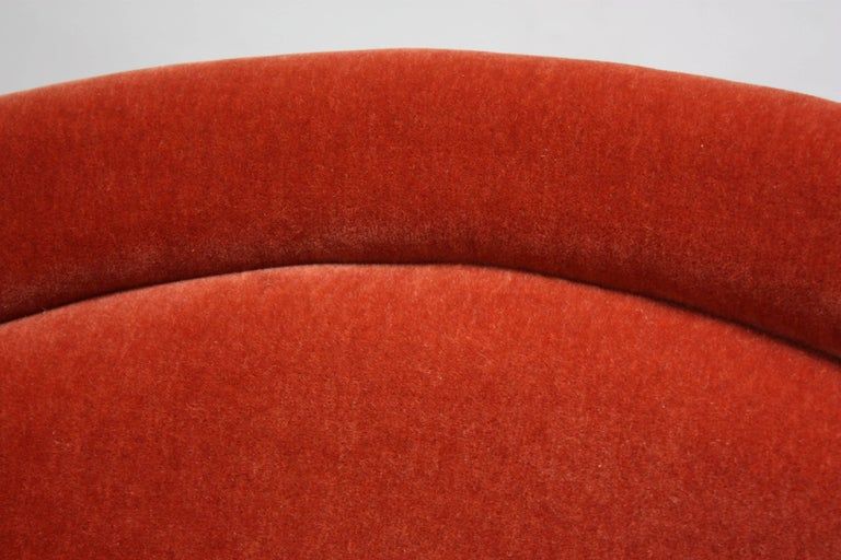 Pair of Warren Platner for Knoll Bronze and Mohair Lounge Chairs with Side Table For Sale 3
