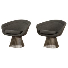 Pair of Warren Platner for Knoll Wire Frame Lounge Chairs