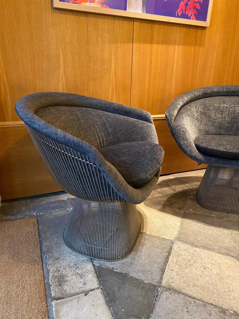 Pair of Warren Platner lounge chairs for Knoll.