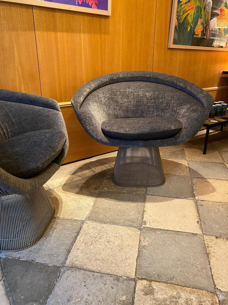 American Pair of Warren Platner Lounge Chairs for Knoll For Sale