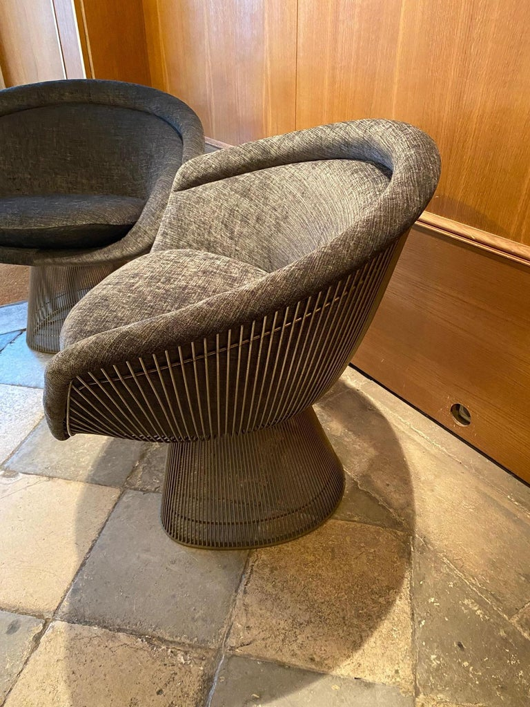 Pair of Warren Platner Lounge Chairs for Knoll In Good Condition For Sale In Paris, FR