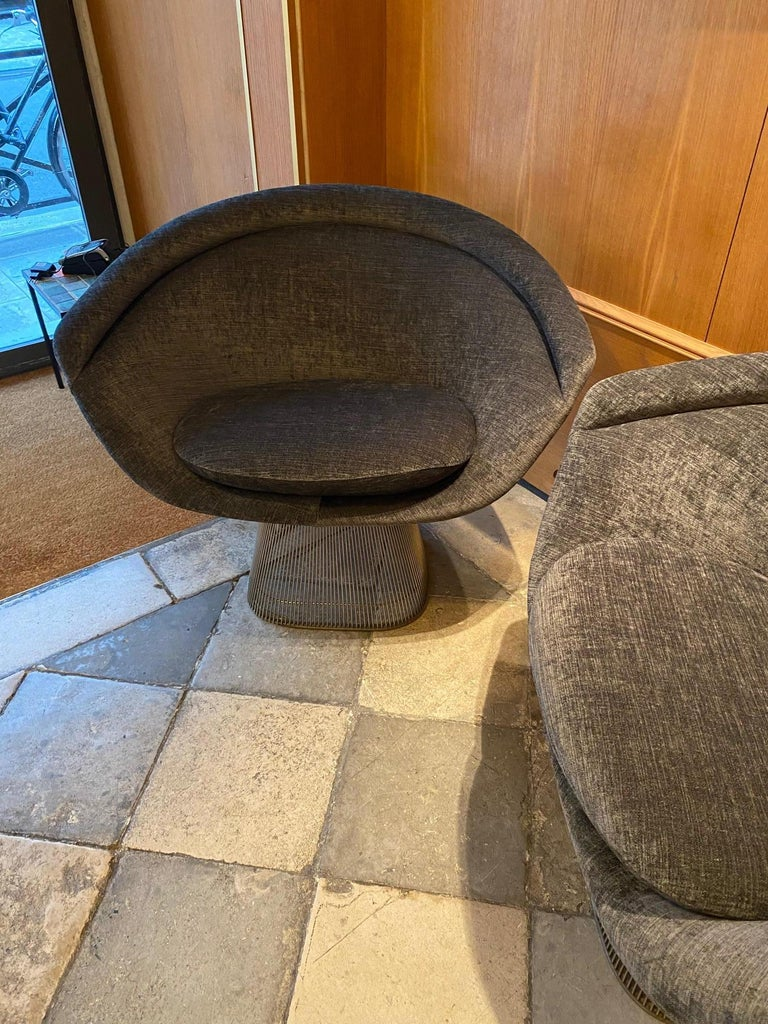 Mid-20th Century Pair of Warren Platner Lounge Chairs for Knoll For Sale
