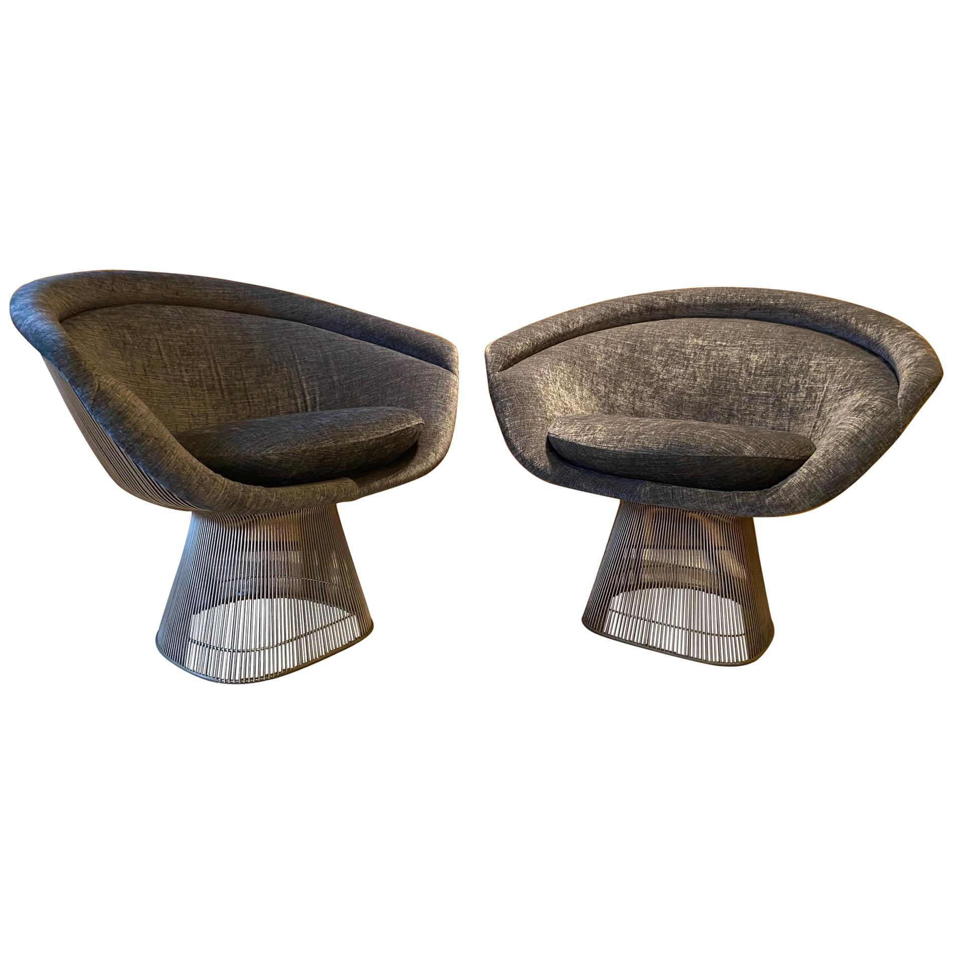 Pair of Warren Platner Lounge Chairs for Knoll