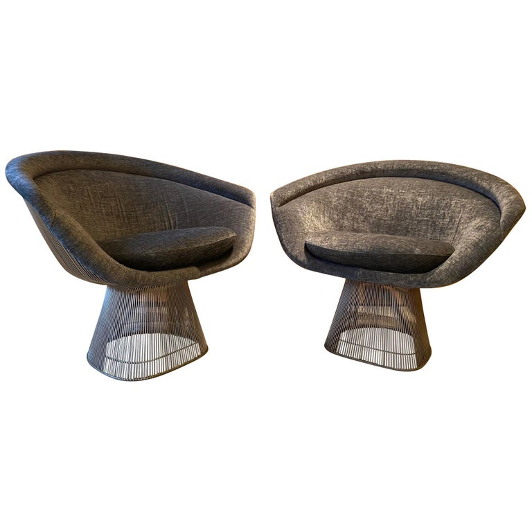 Pair of Warren Platner Lounge Chairs for Knoll For Sale