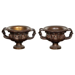 "PAIR OF ""WARWICK"" VASES IN BRONZE"
