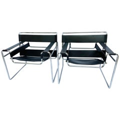 Pair of Wassily Armchairs, Marcel Lajos Breuer, 1968
