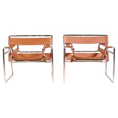 Pair of Wassily Chairs by Marcel Breuer for Knoll, Mid-Century Modern