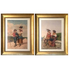 Pair of Watercolours of Vicenzo Caprile