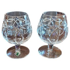 Pair of Waterford Clannad Brandy Goblets