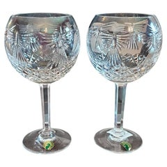 Pair of Waterford Millennium Collection Peace Toasting Goblets