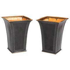 Pair of Wedgwood, Black Glazed, Lustre Ware Vases