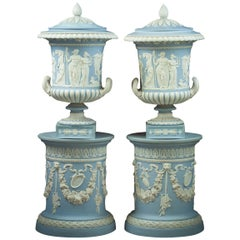Pair of Wedgwood Borghese Covered Vases, circa 1840