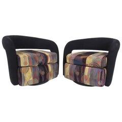 "Pair of Weiman ""Targa"" Swivel Lounge Chairs"