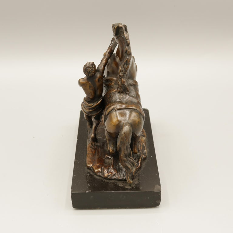 Pair of Well Cast Bronze Models of the 'Chevaux de Marly' For Sale 6