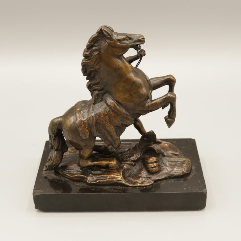 Pair of Well Cast Bronze Models of the 'Chevaux de Marly' For Sale 8