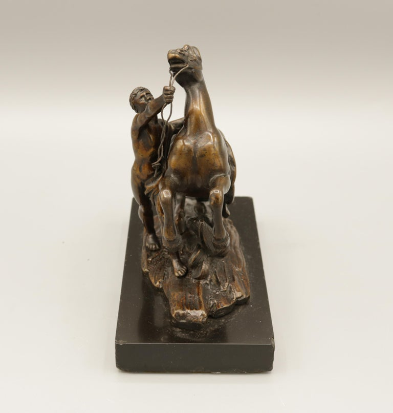 English Pair of Well Cast Bronze Models of the 'Chevaux de Marly' For Sale