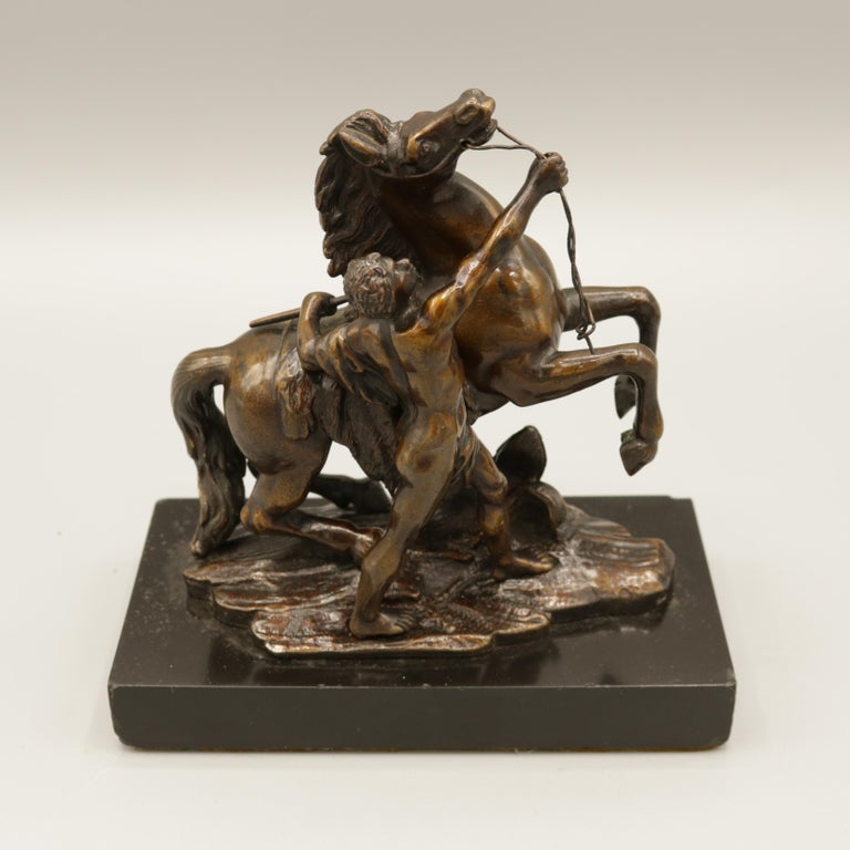 19th Century Pair of Well Cast Bronze Models of the 'Chevaux de Marly' For Sale