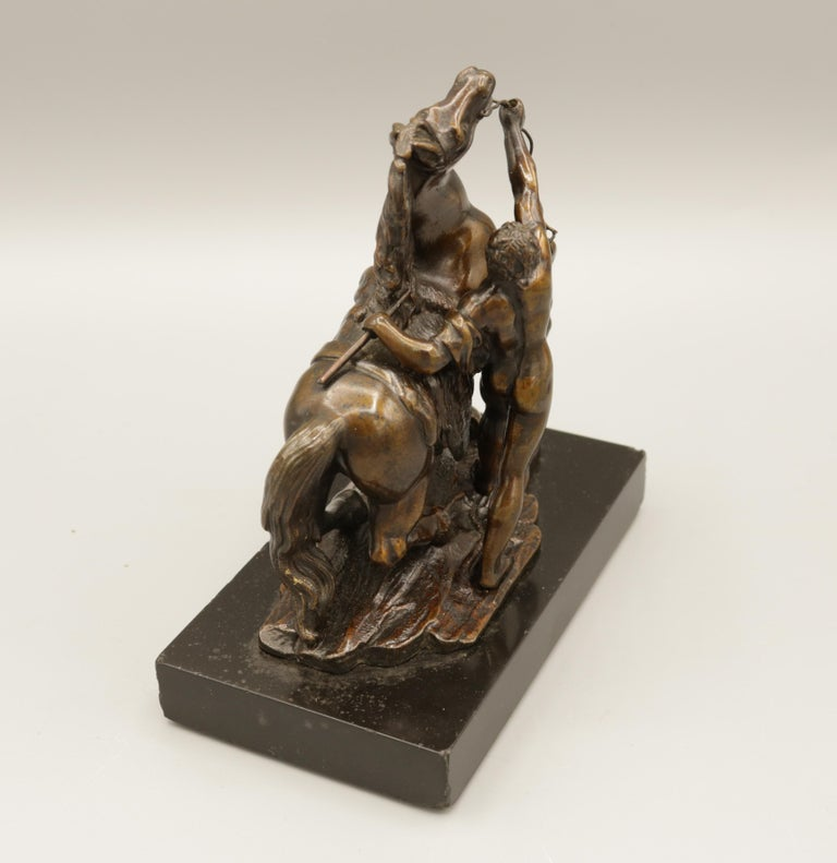 Pair of Well Cast Bronze Models of the 'Chevaux de Marly' For Sale 1