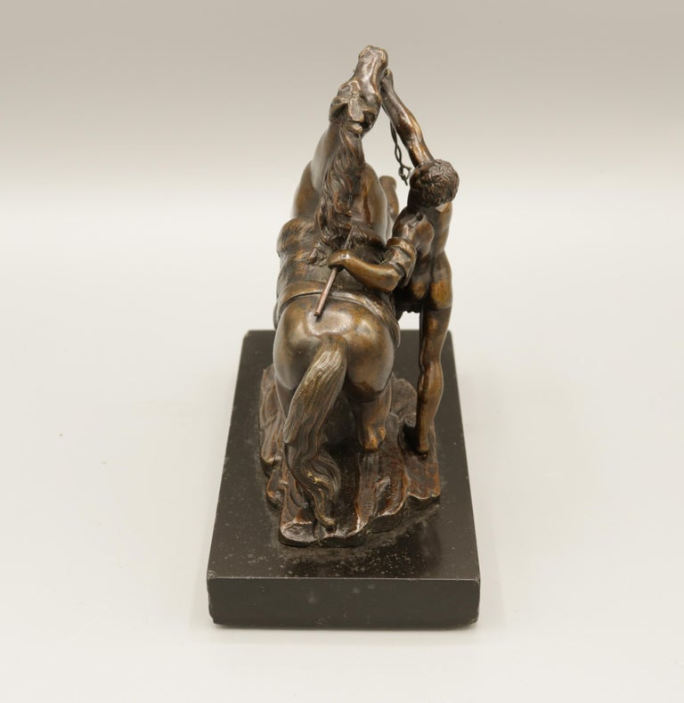 Pair of Well Cast Bronze Models of the 'Chevaux de Marly' For Sale 2