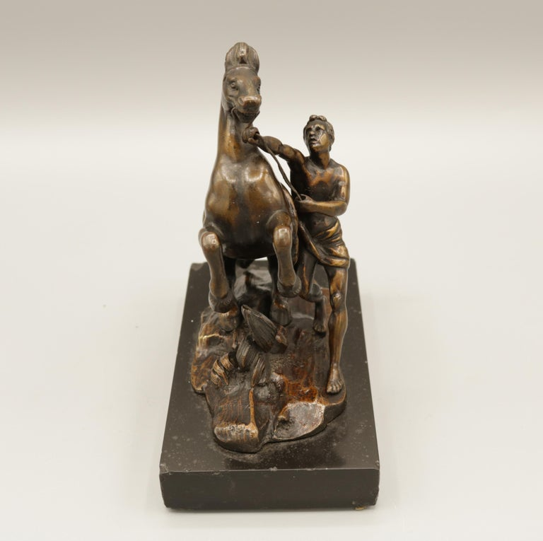 Pair of Well Cast Bronze Models of the 'Chevaux de Marly' For Sale 3