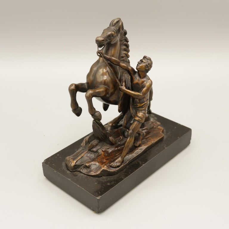 Pair of Well Cast Bronze Models of the 'Chevaux de Marly' For Sale 4