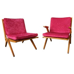 Pair of West German Lounge Chairs by Hans Mitzlaff & Albrecht Lange, circa 1950s