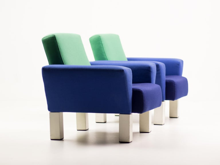 Post-Modern Pair of 'Westside' Armchairs by Ettore Sottsass for Knoll For Sale