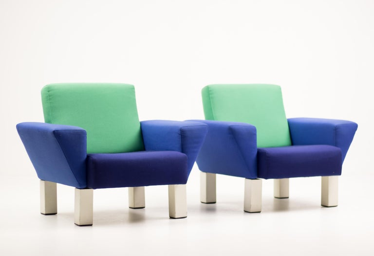 Post-Modern Pair of 'Westside' Armchairs by Ettore Sottsass for Knoll