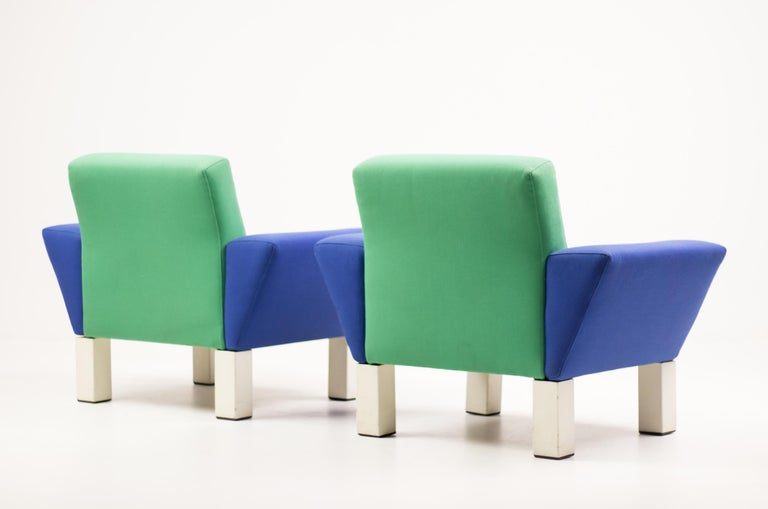 Pair of 'Westside' Armchairs by Ettore Sottsass for Knoll In Good Condition In Dronten, NL