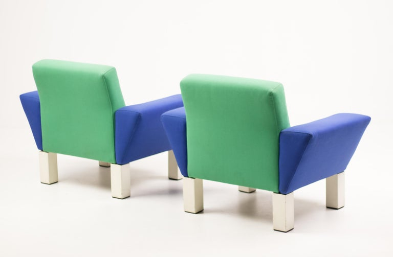 Late 20th Century Pair of 'Westside' Armchairs by Ettore Sottsass for Knoll For Sale
