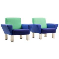 """Ein Paar Sessel """"Westside"""" von Ettore Sottsass für Knoll"""