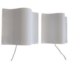 Pair of White Lacquered Perforated Metal Wall Lamps by Lindau & Lindekrantz