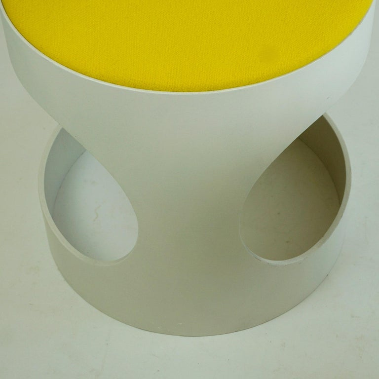 Pair of White Lacquered Plywood Stools by Opal Germany, 1960s For Sale 5