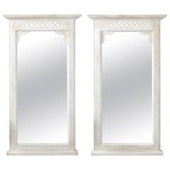 Pair of White Painted Mirrors