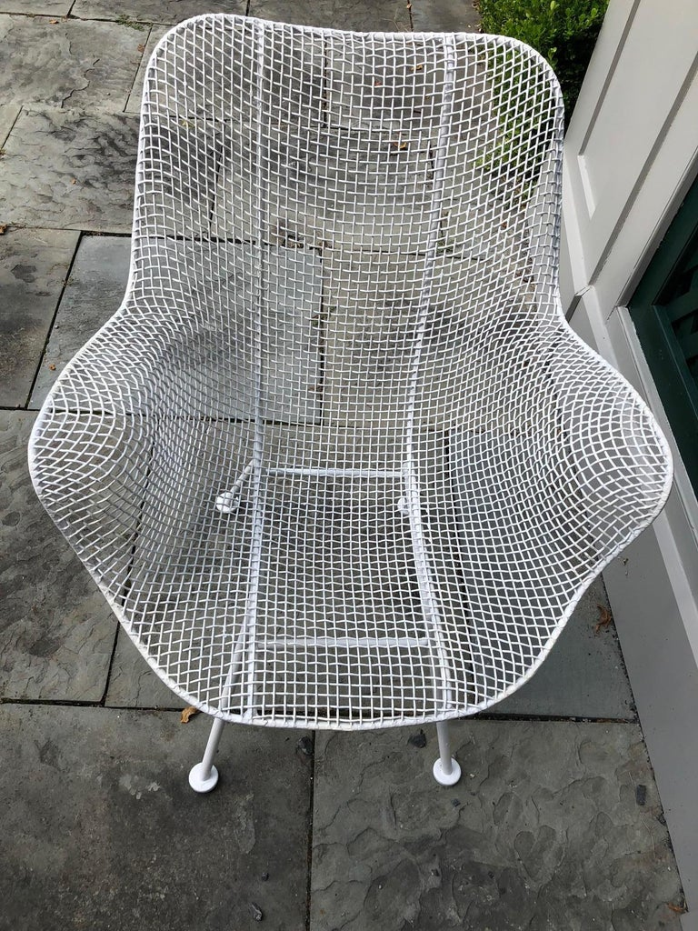 Pair of White Patio Chairs For Sale 2