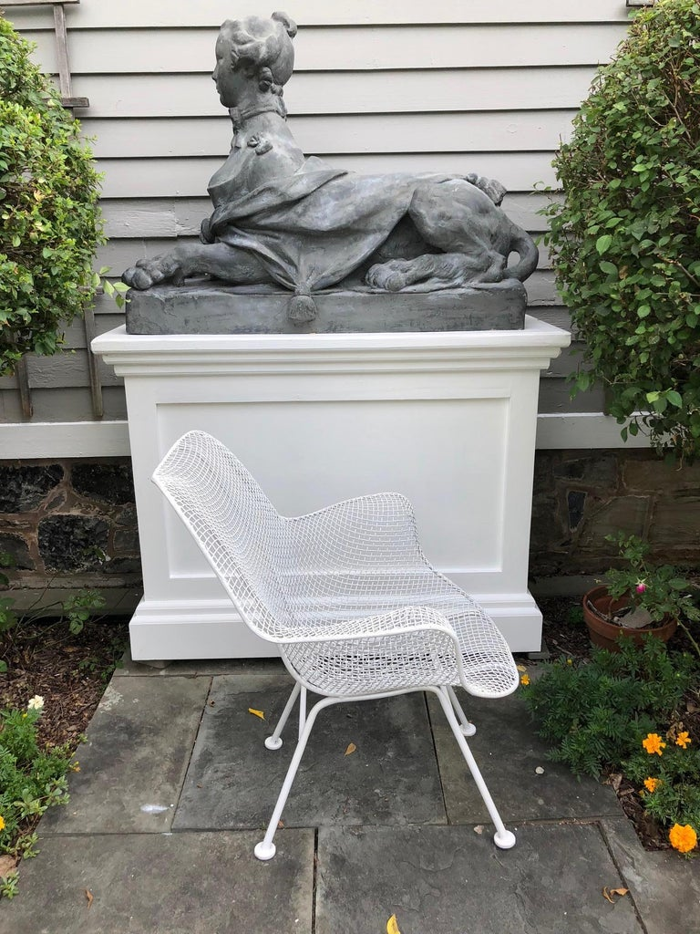 20th Century Pair of White Patio Chairs For Sale