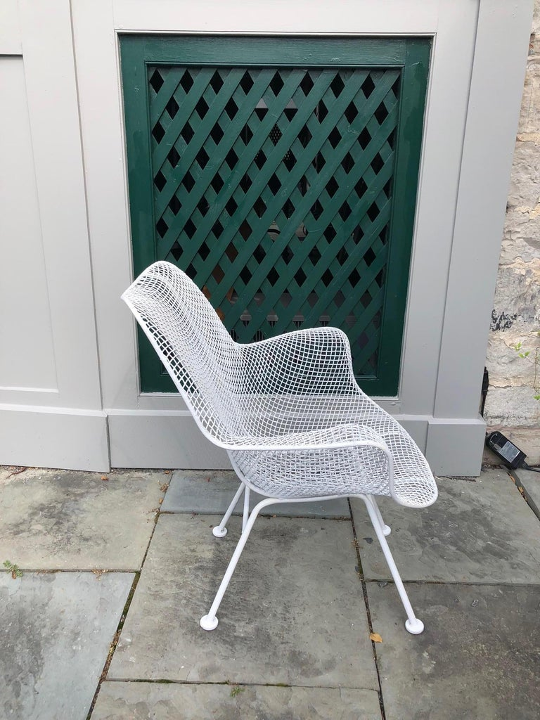 Pair of White Patio Chairs For Sale 1