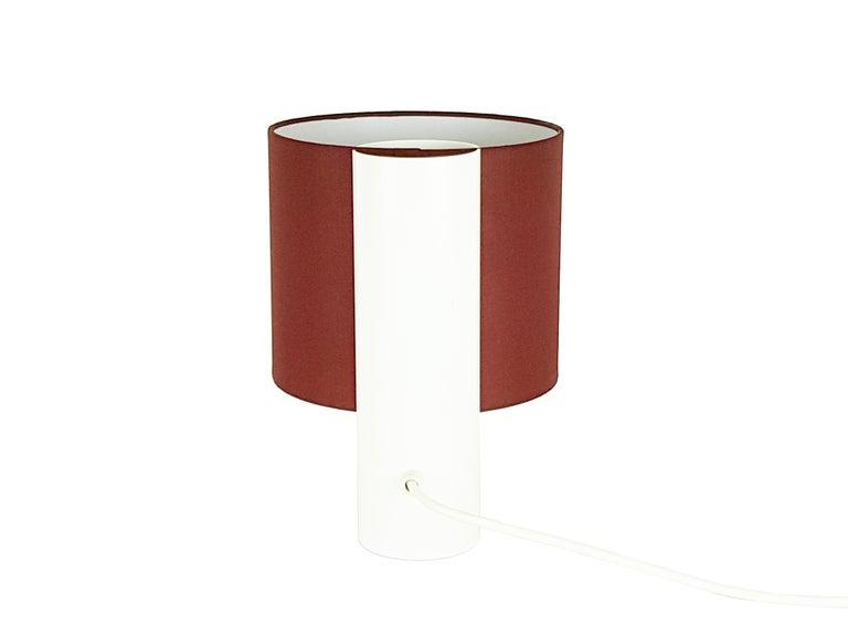 Space Age Pair of White Red Blue Fluette 1970s Table Lamps, G. Gramigna for Quattrifoglio For Sale