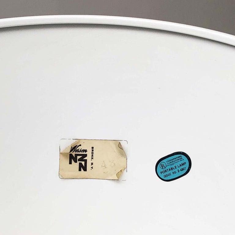 Pair of White Torchieres by Walter Von Nessen For Sale 1