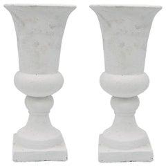 Pair of White Urns